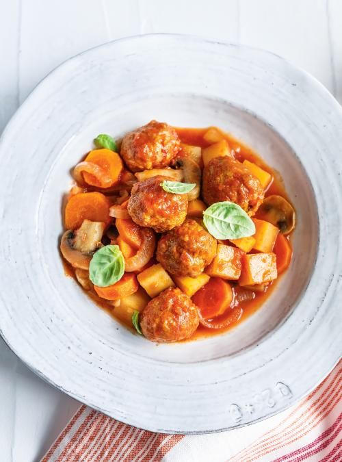 Légumes et boulettes de saucisse à la mijoteuse