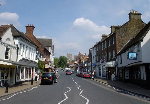 Pinner, Middlesex. Birthplace of Sir Elton John. Where we lived once we left the city of London. This looks like High Street. Only 10 mi tube ride to Baker Street/Hyde Park/Harrod's/London.