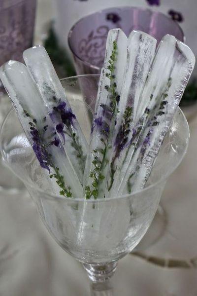 Party ideas | lavender ice cubes