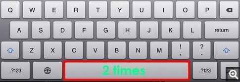 When ending a sentence, instead of typing a period and then a space, just tap the space bar twice. | 19 Mind-Blowing Tricks Every iPhone And iPad User Should Know