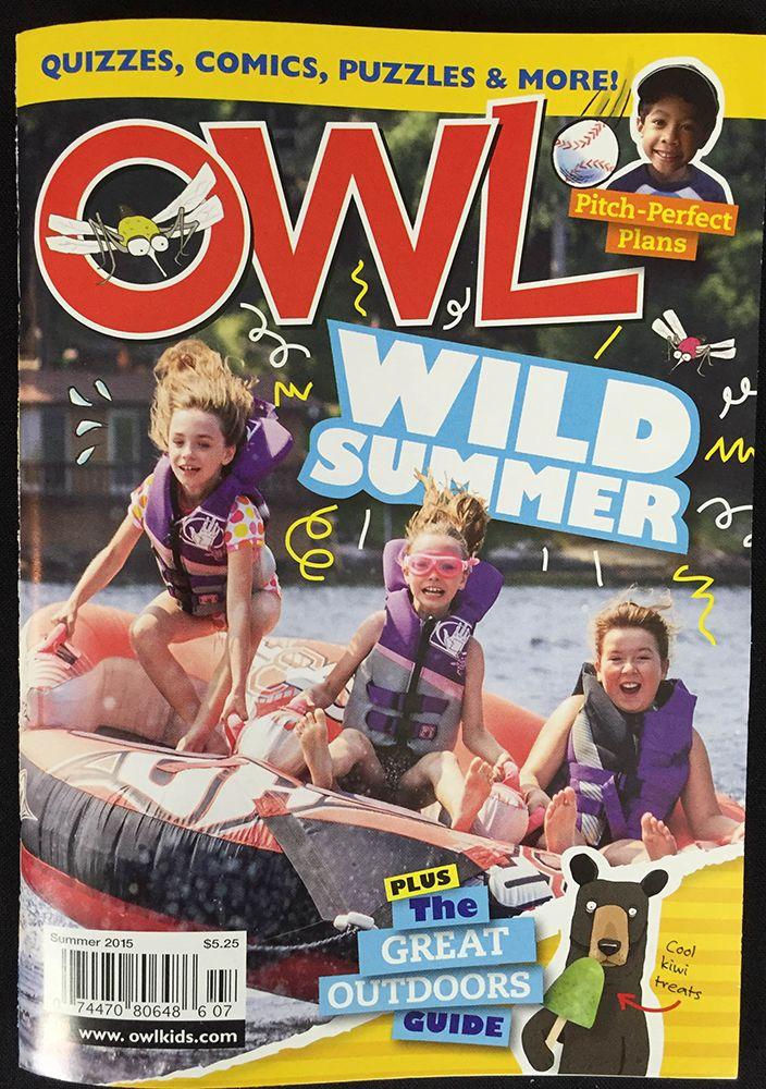 Owl Kids Magazine from July, 2015's Nerd Block Jr. for Girls