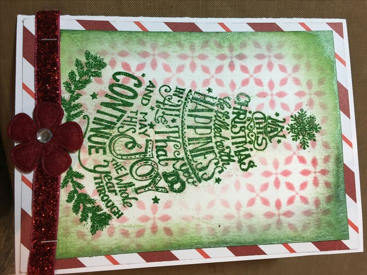 Christmas card, Tim Holtz stamp
