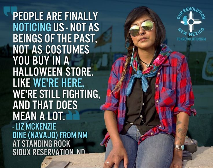 Our Revolution NM @OurRevolutionNM  8h8 hours ago Albuquerque, NM View translation Liz McKenzie Diné - Navajo from New Mexico in solidarity with #StandingRock @People4Bernie @SaveMain_St @PortiaABoulger #NoDAPL #WaterIsLife