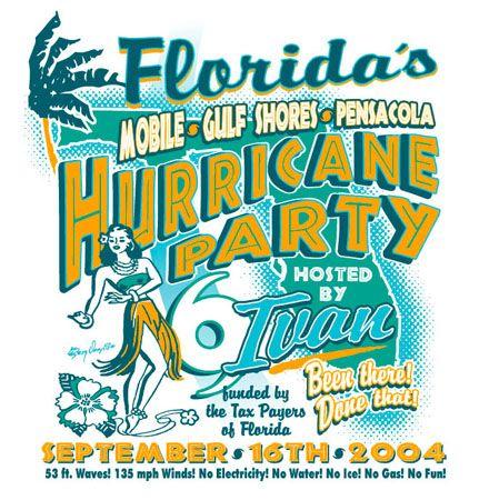 Florida Hurricane Party by Greg Dampier - Illustrator & Graphic Artist of Lake Wales, Florida