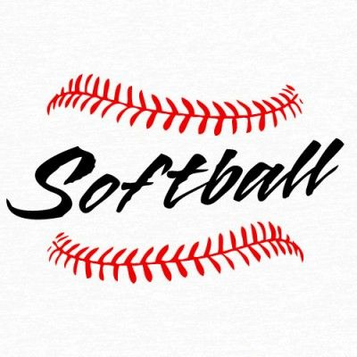Softball Laces Clip Art 09898 by Download Vector