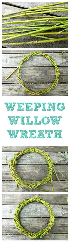 In this simple tutorial we show you how to weave a beautiful, rustic wreath with sticks from our Weeping Willow tree.