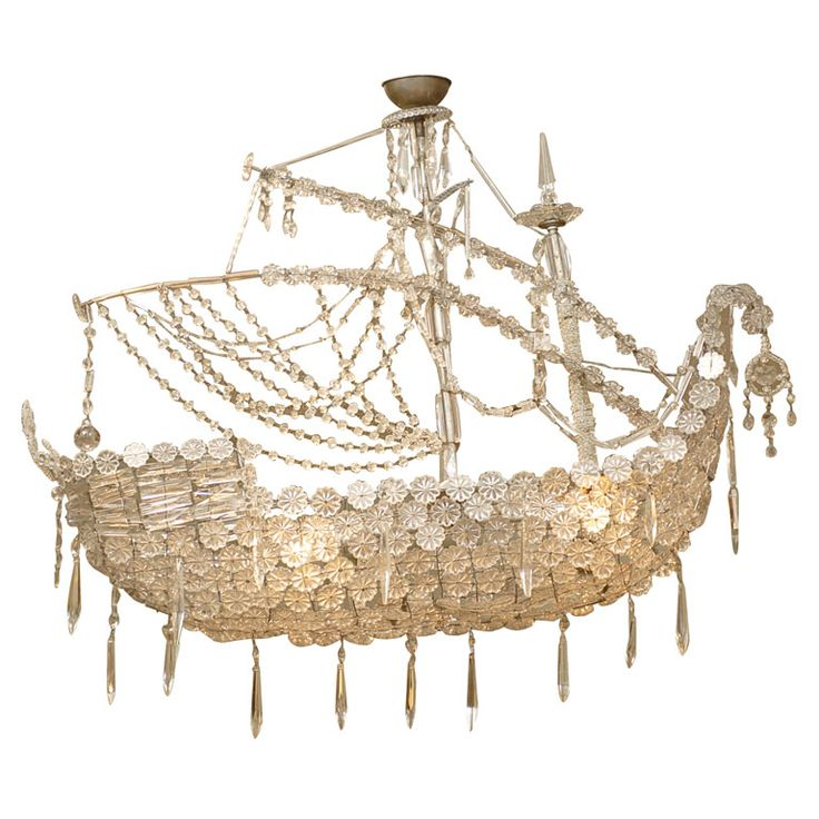 Crystal Ship Chandelier at 1stdibs. I love this fixture!!!
