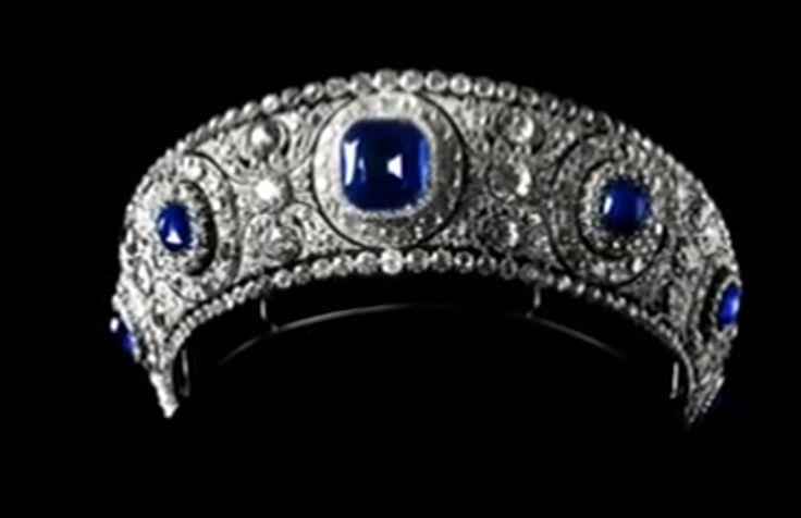 Marie Poutine's Jewels & Royals: Russian Imperial Jewels. ~ Grand Duchess Vladimir's diamond and sapphire kokoshnik tiara.