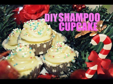 Diy shampoo solido cupcake con burro pre-shampoo! - YouTube