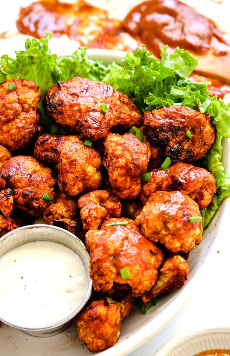 Air Fryer BBQ Cauliflower Wings Okonomi Kitchen in 2020