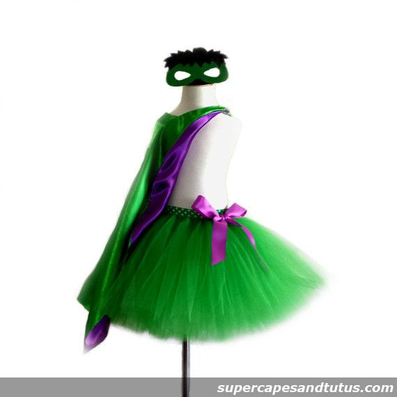 Hulk Inspired Tutu with Cape and Mask