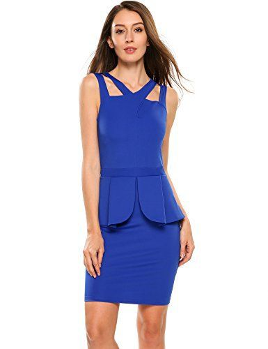 New Trending Formal Dresses: ANGVNS Womens Sleeveless Solid Bodycon Midi or Mini Peplum Dress with Square Neckline. ANGVNS Women's Sleeveless Solid Bodycon Midi or Mini Peplum Dress with Square Neckline  Special Offer: $25.99  111 Reviews 100% Brand new Brand: ANGVNS This is One-piece dress, Summer fashion peplum bodycon business style Elegant Fashion peplum midi sheath style,cocktail Wear to...
