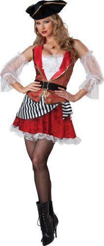 InCharacter Costumes Womens Pretty Pirate Costume RedWhite Medium >>> Want additional info? Click on the image.