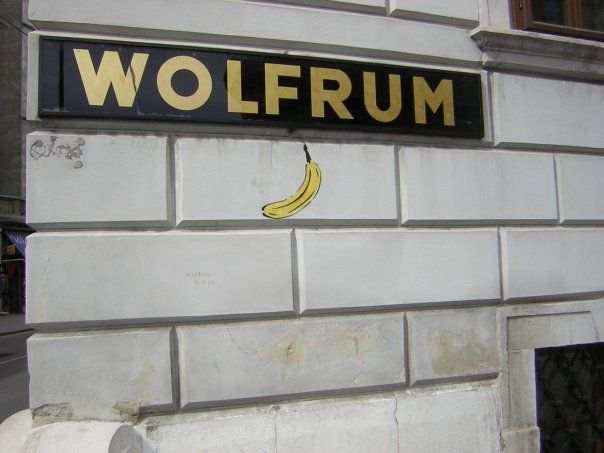 wolfrum and a banana.