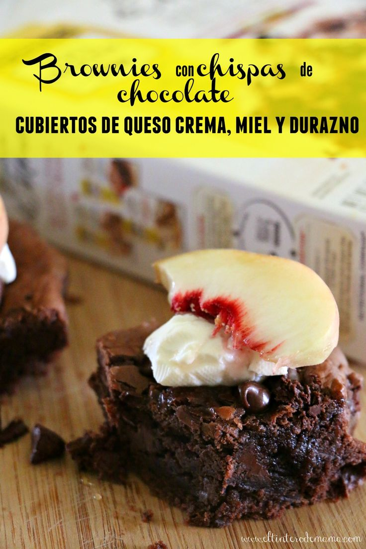 AD Prepara estos deliciosos brownies cubiertos de queso crema, miel y durazno con las nuevas mezclas de @verybestbaking Nestle Toll House Baking Mix y obtén ahorros usando Ibotta en @target: http://wp.me/p54459-2jR #mixinmoments #CollectiveBias