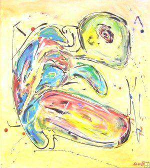 Schilderij (schildpad) van kunstenaar Peter van de Werff. Zie http://www.julesverne-art.nl/animals-c-70.html?page=3&sort=20a