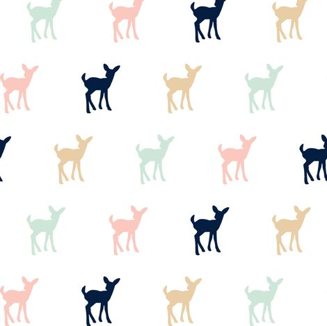 Multi Fawn Briar Woods (small scale) fabric by littlearrowdesign on Spoonflower - custom fabric