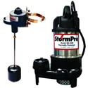 StormPro 1/2 HP Cast Iron Stainless Steel Sump Pump w/ Adjustable Vertical Float. StormPro pumps use high efficiency motors that cost less to operate and discharge more water than standard pumps. If you don't believe it, compare similar HP pumps to these and you'll see for yourself that these pumps use fewer amps to operate and provide a higher output.