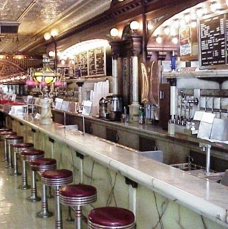Zaharakos Ice Cream Parlor and Museum in Columbus, Indiana has been scooping ice cream since 1900, and is till going strong. Stop in for a shake in any of fourteen flavors. Only 20¢ in 1900 or $4.95 in todays inflated dollars.