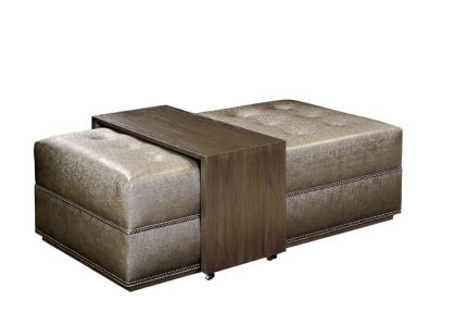 Patagonia home trading co soho ottoman with tray table 58 5 w x 30 d x 16 5 h without Ottoman coffee table trays