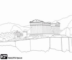 δωρεάν σχέδια για ζωγραφιές από τους χρήστες μας Η Ακρόπολη της Αθήνας με το ναό του Παρθενώνα προς τιμήν της θεάς Αθηνάς, Αθήνα, Ελλάδα