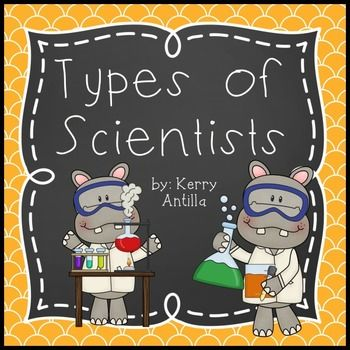 """Types of Scientists This set contains job descriptions of different types of scientists.  The one sentence description of scientists' jobs are paired with a picture and repetitive text; """"A zoologist studies...""""  Great for the beginning of the school year when you are just introducing science!"""