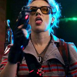 """""""Kate McKinnon in Ghostbusters """" This scene was totally HER scene tho. She dominated in it and I admit... I got a major lady boner. Yep. Happened."""