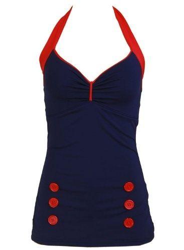 Nautical Women's Bathing Suit Swimsuit Swimwear.  Fabulous.
