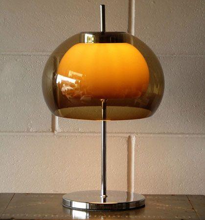 Vintage 1970s mushroom lamp on eBay.