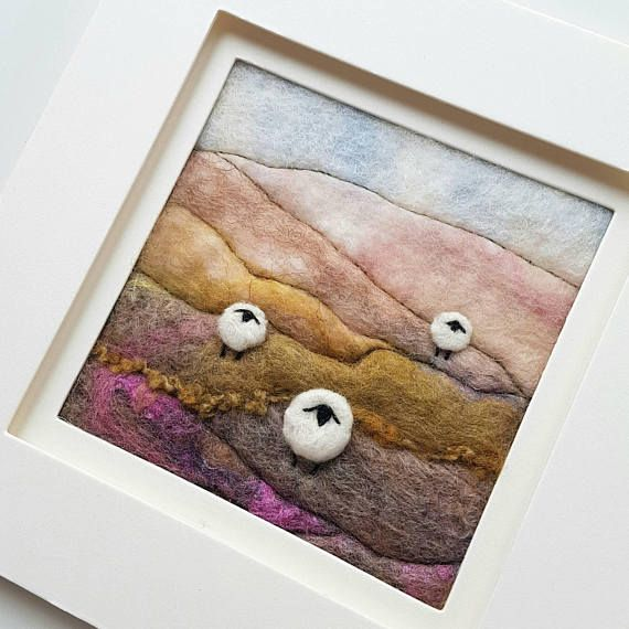 Check out this item in my Etsy shop https://www.etsy.com/uk/listing/453785388/sheep-in-a-heather-landscape-original