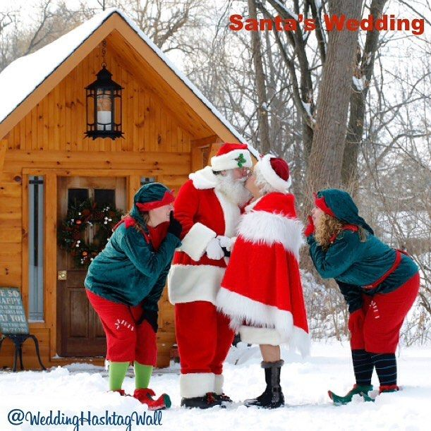 With all his gifts delivered Santa has renewed his vows! He of course got his weddinghashtag .. Have you? Don't miss your opportunity. Head over to our website get your free signs while you're there and Celebrate the Love @weddinghashtagwall