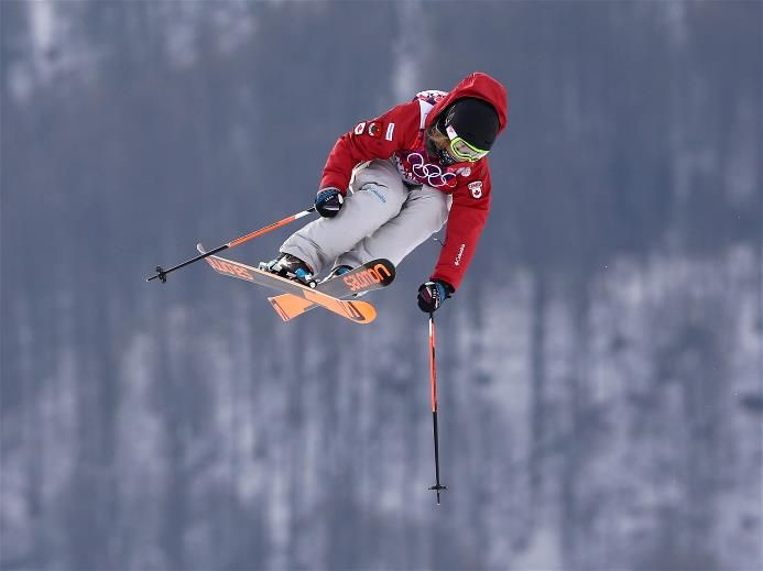 DAY 5:  Dara Howell of Canada competes in the Freestyle Skiing Women's Ski Slopestyle Qualification
