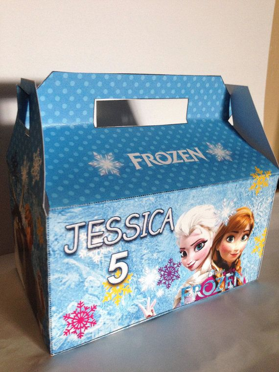 frozen treat   favor box  diy digital file  on etsy   5 00