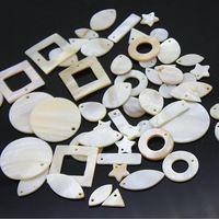 20 шт. Мода белый DIY естественное сочетание формы свободные стеклянные бусы nb187