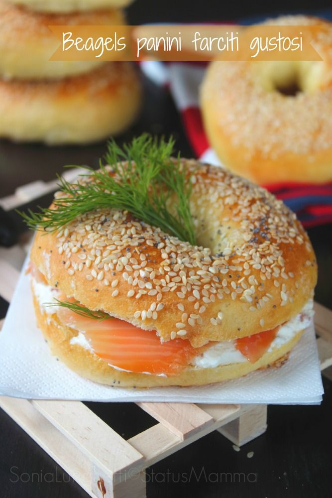 bagels panini farciti americani ricetta lievitata lievitato soffice farcita Statusmamma Gialloblogs