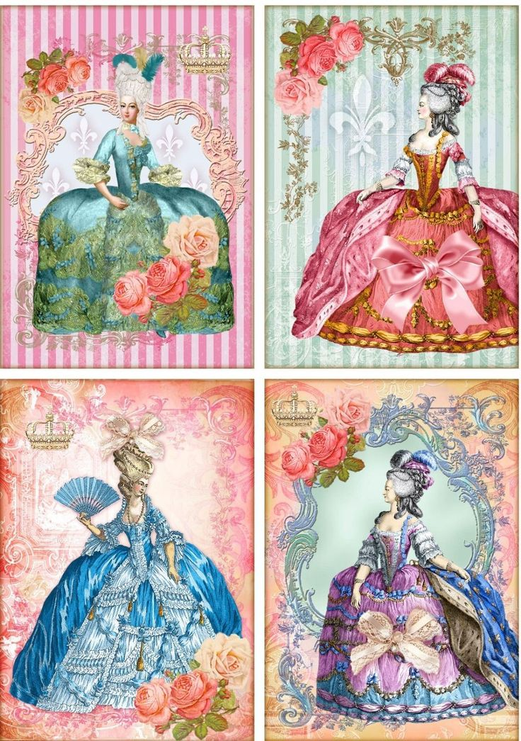 Vintage Inspired Marie Antoinette Stripe Small Note Cards Tags 8 Scrapbooking | eBay
