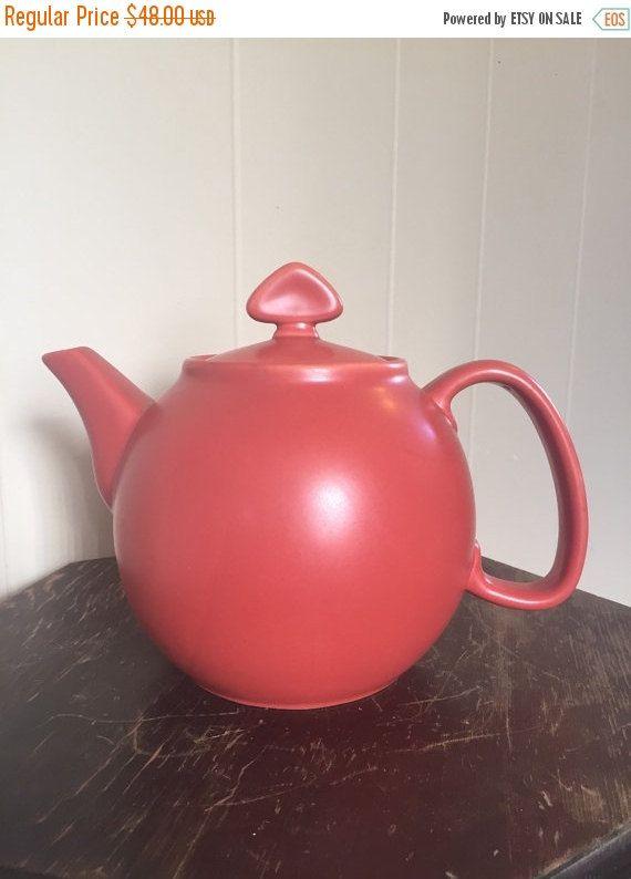 Chantal Teapot Red Chantal Teapot Red Teapot Vintage by Speckadoos