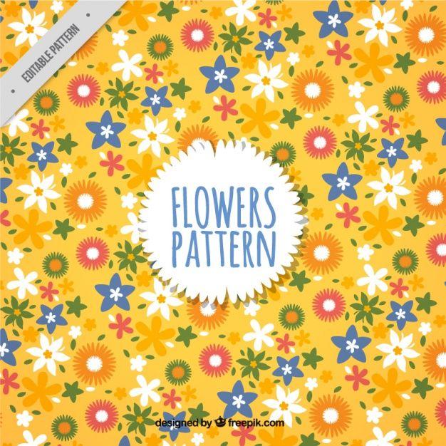 무료 일러스트: 백그라운드-꽃-패턴-꽃패턴-꽃-자연-vector - 온 세상 모든 무료이미지 큐레이션 - 프리큐레이션