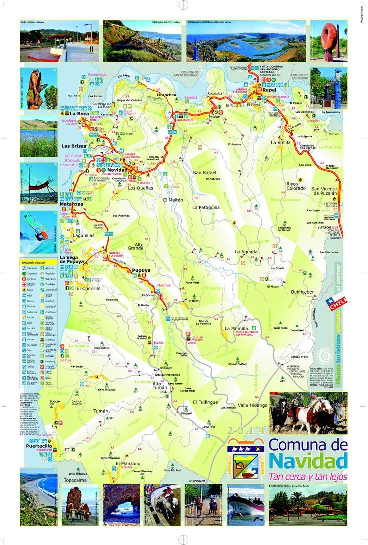 Mapa de caminos y servicios de la comuna de Navidad 2014