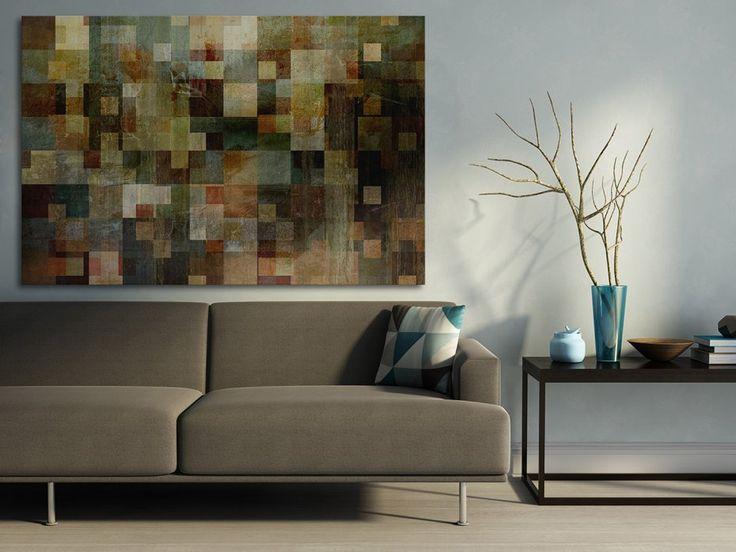 Obraz na płótnie - ABSTRAKCJA KWADRATY  - 120x80 cm (13001) (sprzedawca: VAKU-DSGN), do kupienia w DecoBazaar.com