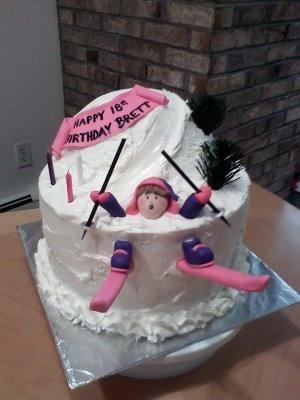 Gâteau de ski amusant