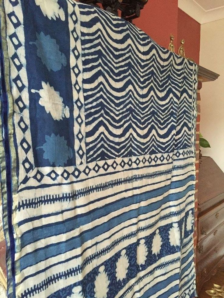 A rather unusual Indigo on White, completely designed and not curated by London Desi Project. This one had to be mine