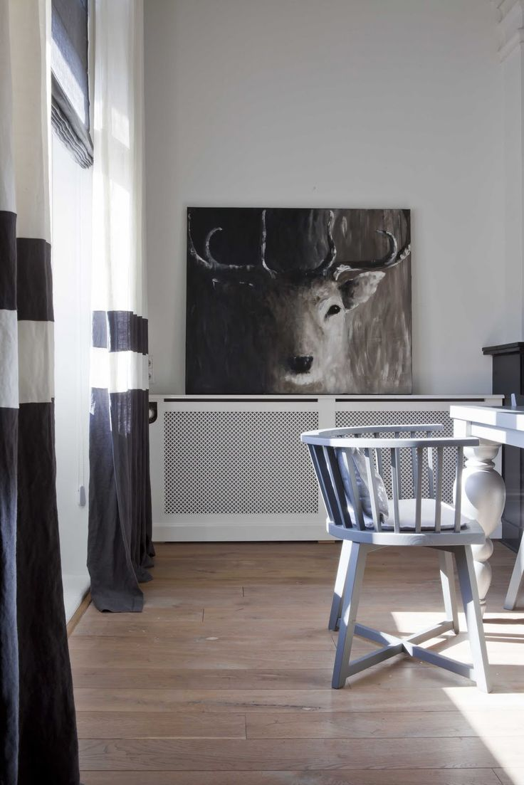 isn't this painting much more nicer than a real deer head on the wall ?