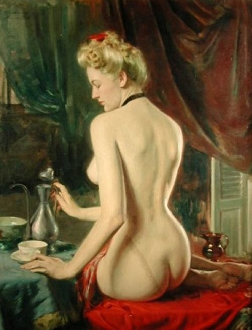 Drinking Tea, Henrique Medina de Barros    1946