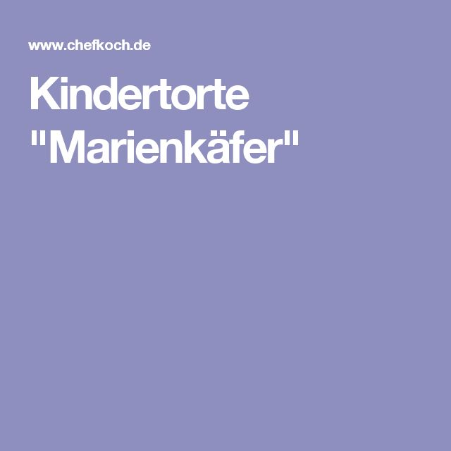"Kindertorte ""Marienkäfer"""