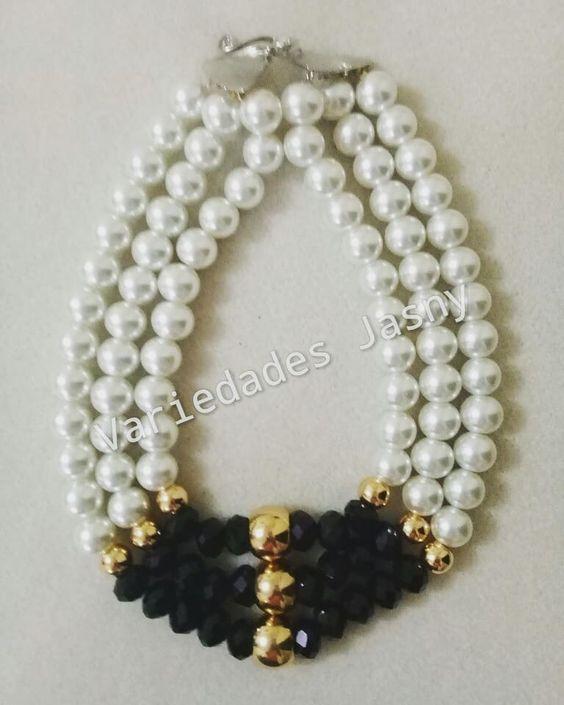 3fe18036fd1a Curso gratis de bisuteria  Aprende hacer collar de perlas muy fácil paso a  paso