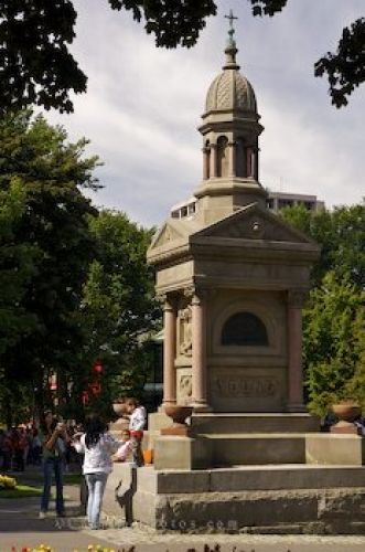 Photo: Kings Square Monument Downtown Saint John New Brunswick. We used to street preach not far from this very monument!