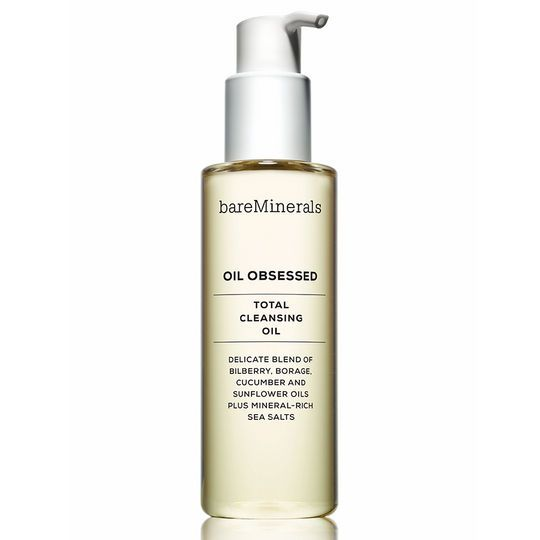 Bare Minerals Oil Obsessed Total Cleansing Oil ($30).  It's exactly the pick-me-up you need in morning, especially in the dead of winter. Sunflower and cucumber oil lock in hydration, while mineral-rich sea salts gently purify your skin.