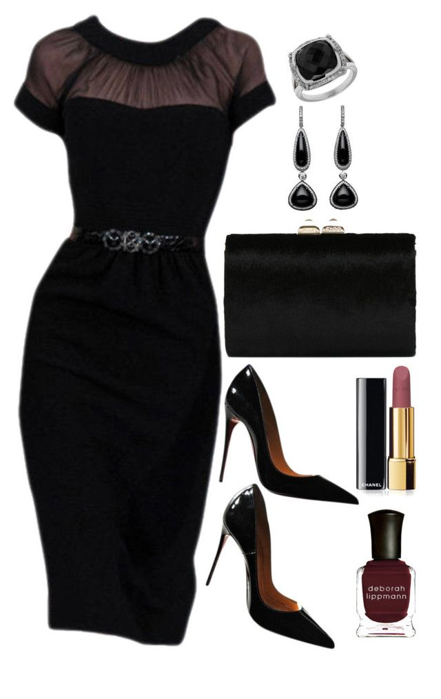 """Untitled #3087"" by natalyasidunova ❤ liked on Polyvore featuring Christian Louboutin, Jimmy Choo, Lord & Taylor, Chanel, Deborah Lippmann, women's clothing, women's fashion, women, female and woman"