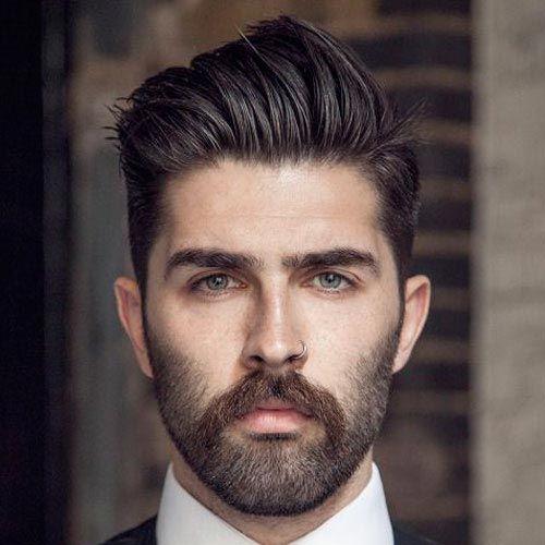 Mid Length Pompadour haircut For Stylish Men